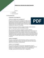 Generalidades Del Proceso de Investigacion