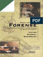 Victor Gabriel Rodrígues - Manual de Redação Forense - 2º Edição - Ano 2004.pdf