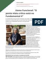 NOVA ESCOLA ED 323 REPORTAGEM Analfabetismo Funcional o Ponto Mais Critico Esta No Fundamental Iipdf