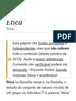 Ética – Wikipédia, A Enciclopédia Livre