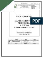 MN-MA1-PR1 Procedimiento Matenimiento de Equipos (Mecanico y Electrico) e Infraestructura