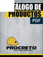 Catálogo de Productos (PROCRETO) 2018