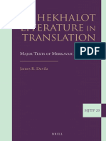 (20) (Supplements to the Journal of Jewish Thought and Philosophy) James Davila - Hekhalot Literature in Translation_ Major Texts of Merkavah Mysticism-BRILL (2013)