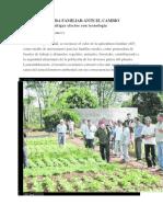 LA AGRICULTURA FAMILIAR ANTE EL CAMBIO CLIMÁTICO