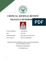 CRITICAL JOURNAL REVIEW FILSAFAT PENDIDIKAN.docx