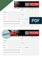 Formulario de contacto de Oxford