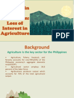 Loss of interest in Agriculture