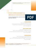 JOVENS EMPREENDEDORES E O PROCESSO DE CRIAÇÃO....pdf