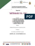 Reporte de Los Articulos 110 a 170