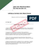 Temario de Operaciones de Procesos