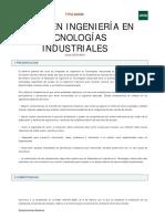 tecnologias industriales