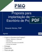 Proposta para implantação de Escritório de Projetos