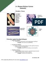 Human Defense System & Immunity