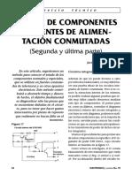 Prueba de Componentes en Fuentes Conmutadas 2da. y Ultima Parte