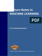 Machine learning notes for KTU semester 7