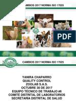 NTC ISO 17025 Cambios Version 2017