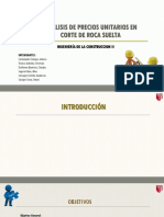 PRECIOS UNITARIOS EN ROCA SUELTA