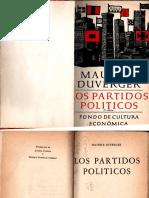 Los Partidos Políticos_Maurice Duverger III Edición