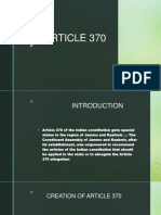 Article 370 Ppt by Shivam