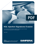 SQL Injection Signatures Evasion