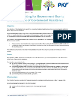 Ias 20 Accounting for Government Grants and Disclosure of Government Assistance Summary