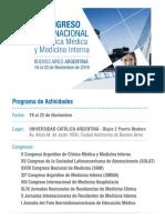 Congreso de Medicina 2019 | Programa