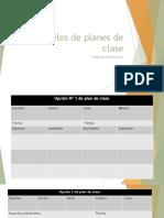 Modelos de Planes de Clase