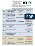 Horario Do 2 Semestre de 2019 UNESP Pós Bauru