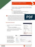 Instalación de Certificado Digital en Fichero Firefox 56 o Superior
