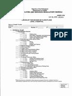 AO 2016-0042 Annex H-6b Checklist for Review of Floor Plans_Level 2 Hospital
