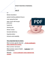 Important Pediatrics Syndromes