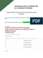 Family Focused Nursing Care 1st Edition by Sharon a. Denham-Test Bank