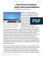 Walmart Inc. Five Forces Analysis (Porter's Model), Recommendations - Panmore Institute