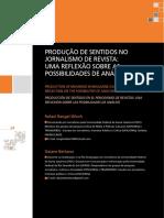PRODUÇÃO DE SENTIDOS NO JORNALISMO DE REVISTA