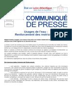 CP Renforcement Restriciton Eau
