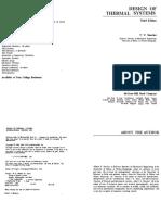 W. F. Stoecker - Design of Thermal Systems-Tata McGraw Hill India (1989)
