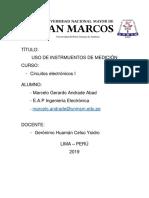 Informe Previo 1 - Instrumentos de Medicion