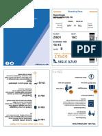 Aigle Azur - Boarding Pass