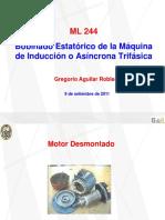 Bobina estatórico de la máquina de inducción o asíncrona trifásica - Gregorio Aguilar Robles