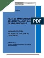 plan de mantenimiento del h san juan de lurigancho