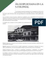 La Compañía Guipuzcoana en La Venezuela Colonial