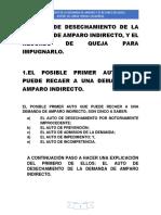 El Auto de Desechamiento de La Demanda de Amparo Indirecto, y El Recurso de Queja.