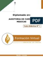 Guía Didáctica 1 Auditoria de Cuentas Medicas