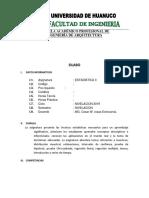 Silabo Estadistica2 - Arquitectura - Verano