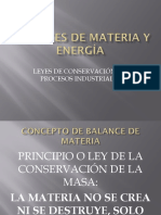 Balances de Materia y Energía Preliminares