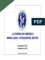 LA VIVIENDA EN VENEZUELA MARCO LEGAL Y SITUACIÓN DEL SECTORr