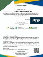 Elaboração de Projetos Sociais-certificado de Conclusão 892