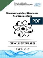 JUSTIFICACIONES CCNN. 2017