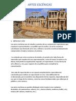 ARTES ESCÉNICAS-Tema Introductorio