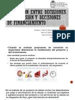 Distinción Entre Decisiones de Inversión y Decisiones De